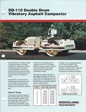 Equipment Brochure Ingersoll Rand Dd 110 Asphalt Compactor 1990 E4743