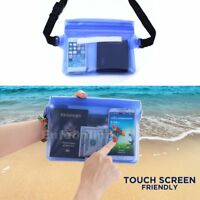 Waterproof Waist Pouch Bag Underwater Dry Case Cover for iPhone Cell Phone Blue