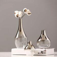 Nordic Flower Glass Vase Creative Silver Gradient Dried Desktop Terrarium Decor