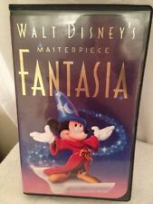 1991 Christmas Lead Walt Disney's Fantasia VHS Tape with Ad Cards