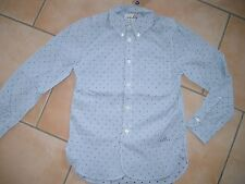 (29) Bellerose Boys langarm Hemd button down gestreift mit Logo Druck gr.140