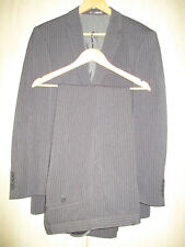 "mens NEXT GREY WOOL PINSTRIPE SUIT 38""R - 32"" WAIST - 31"" LEG"