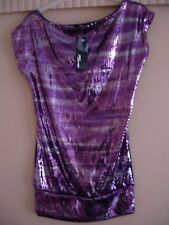 Jane Norman sequinned top Size 12