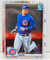 Anthony Rizzo 2020 MLB Topps Bowman Chrome Baseball Base Card #92 Chicago Cubs