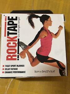 "RockTape Kinesiology tape 2-Inch X 16.4-Feet Black with ""CROSSFIT"" Logo"