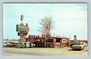 Pee Dee SC-South Carolina, Midway Diner on Hwy 301, Chrome c1950s Postcard