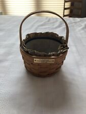 Vintage Original 1992 Longaberger Round Discovery Basket nautical W/liner 5.5""