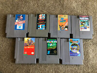 Lot Of 7 NES Nintendo Entertainment System Games - Tested (Dragon Spirit, Mario)
