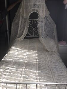 Bed Canopy And Lace Bed Spread