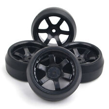 12mm Hex 4Pcs Tires Hub Wheel Rims For HPI HSP RC 1/10 RC Drift Car On-Road