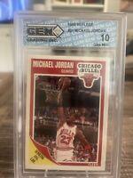 1989-90 Michael Jordan Fleer #21 Gem Elite 10 Pristine Chicago Bulls HOF