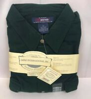NWT Five Brother Mens Green Mens Button Up 100% Cotton Long Sleeve Shirt (R3)