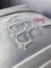 Antik'Etoffe,Drap Ancien trousseau Exception Monogramme fleurs lys ,240x320,S188