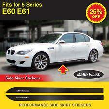 Für BMW E60 E61 5-Serie M Performance Seitenschweller Schweller Aufkleber MATT