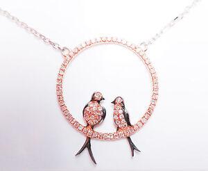 ARGYLE Pink Diamond - Necklaces & Pendant 0.50ct Natural Fancy pink Birds 18K