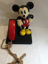 "Vintage 14"" Tall Disney Mickey Mouse Figurine AT&T Touchtone PHONE  NOT TESTED"