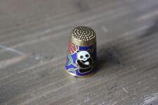 Vintage Enamel Panda Thimble