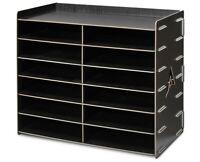 AdirOffice Wood 12 Compartment Paper Literature Organizer Sorter