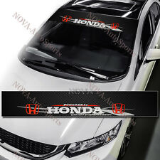 HONDA Racing Front Window Windshield Carbon Fiber Vinyl Banner Decal Sticker 53
