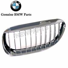 NEW BMW 645Ci 650i M6 04-10 Front Driver Left Chrome Grille Genuine 51137077931