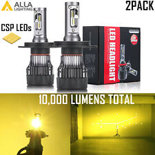 Alla Lighting 9003 Headlight High Low Bulb Golden Yellow Increasing Visibility