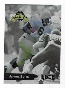 Jerome Bettis 1993 PLAYOFF FOOTBALL ROOKIES CARD #294 Rams Steelers RC NON AUTO