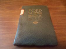 1939 Ford Trucks/Commercial Cars Data Book Spiral-Bound Dealer item / RARE