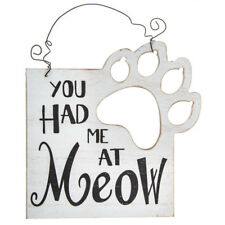 You Had Me At Meow Wood Wall Decor Cat Lovers