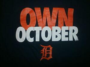DETROIT TIGERS OWN OCTOBER T SHIRT Baseball Playoffs World Series Post Season M