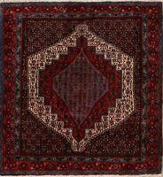 Tribal Geometric Bidjar Hand-Knotted Area Rug Wool Oriental Square Carpet 5x5