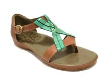 Keen City Of Palms Posted Women's Brown/Green Leather Sandals Size US 9