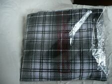 New Mens XL grey / checked tartan pyjamas lounge pants & top