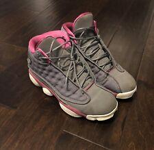 Girls Air Jordan 13 Retro GS Cool Grey/Fusion Pink -Size 7Y