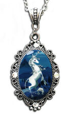 Unicorn Sparkles Cameo Pendant Necklace The Last Unicorn By Alkemie