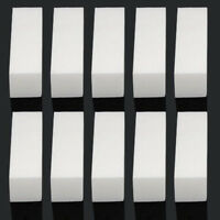 EG_ 10x Pro Acrylic Nail Art Tips Buffer Buffing Sanding Block Files White Nail