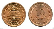 Sixteen (16) Angola 10 Centavos 1949 Coins Uncirculated Bronze Set.KM 70, Mint