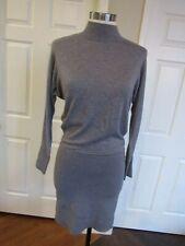 NWT White House Black Market Women's Gray Turtleneck Chemise Sweater Dress XS
