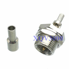 3pcs Connector FME male plug pin bulkhead crimp for RG316 LMR100 RG174 COAXIAL