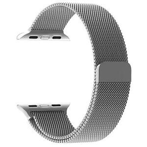For Apple Watch Series 5 4 3 2 6 Milanese Stainless Steel iWatch Band Loop Strap
