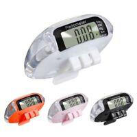 Digital Pedometer Walking Step Distance Calorie Counter Run Fitness Belt Clip
