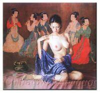 "24""×36"" Oil Painting Nude pretty girl woman On Canvas Modern Art Wall Decor #903"