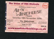 2006 Amy Winehouse Concert Ticket The Waterfront Norwich UK Back To Black