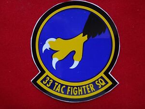 USAF 33rd Tactical Fighter Squadron Decal Sticker New