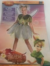 Disney Tinkerbell Tink Lost Treasure Girl Costume size 4-6x Dress Up Deluxe
