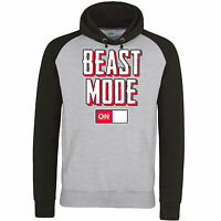 Beast Mode On Off Funny Slogan Baseball 2 Colour Unisex Pullover Hoodie NEW