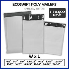 Poly Mailers 235mil Shipping Envelope Mailing Bags Plastic Seal Choose Size