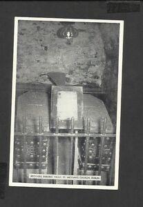 Vintage Black/White Postcard Brother Sheare's Vault St Michan's Church Dublin
