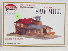 "MODEL POWER N SCALE U/A ""SAW MILL"" PLASTIC MODEL KIT #1523"