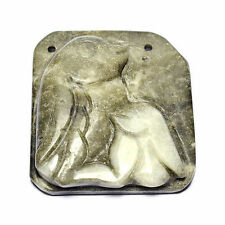 "Handcrafted Amazonite Pendant Bead 4.4cm, 1 3/4"" Jewellery Making Art Rocks UK"