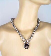 "1/4"" Stainless Steel Locking Triple Link Chainmail Necklace by Axovus"